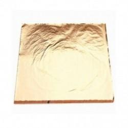 3X (100 lap) utánzat arany réz levél fólia papír aranyozás művészeti kézműves 14X14CG4Y9