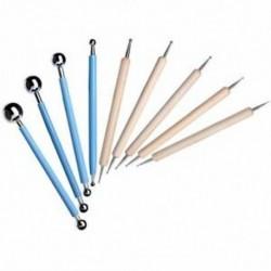 9 darabos golyóstílus-pontozásos modellező eszközök Agyagkerámia kerámia, az E5G9-hez
