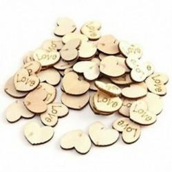 150 db fa szív kézműves szerelem alakú esküvői dekorációhoz - 15X12Mm U4G1