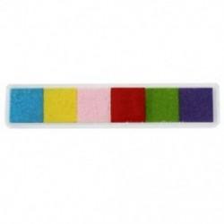 1X (világos 6 színű tintapatron tintasugaras gumibélyegző ujjlenyomat-készítő nem mérgező R8S2