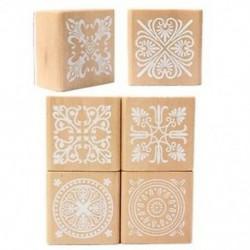 6 válogatott fabélyegző gumi tömítés négyzet alakú kézírás DIY kézműves virág Lac G1V5
