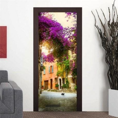 2X (3D ajtófali hűtőmatrica matrica matricafóliázó falfestmény öntapadós otthon A1T2