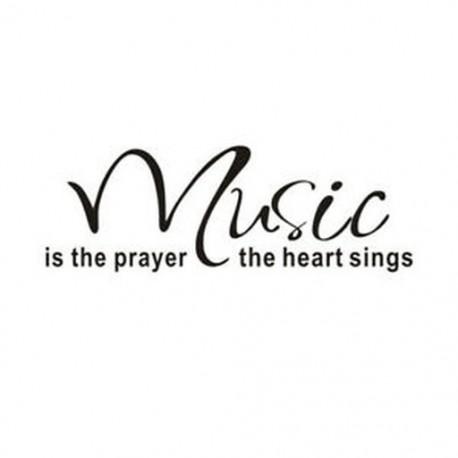 20x (A zene az ima énekel otthon dekoráció idézetek J8R4 fali matrica