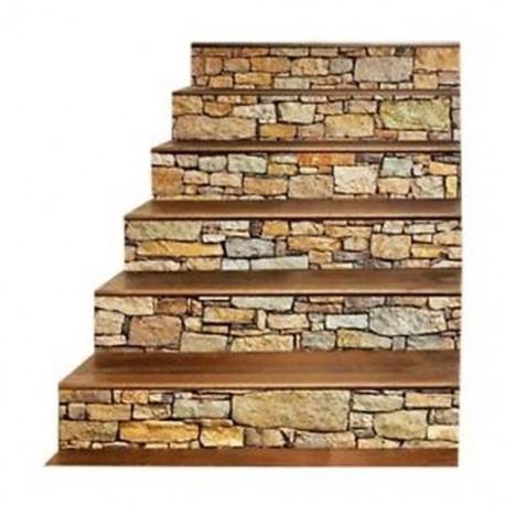3X (3D lépcsőmatrica falfestmények-Vintage tájkép lépcsőmatrica M J5Y3