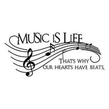 5X (50,8 * 22,4 hüvelykes hangjegy) A zene az élet angol betűinek C2I6 falimatrica