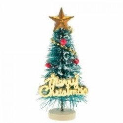 1: 12 Dollhouse miniatűr karácsonyfa &quot Boldog karácsonyt&quot  betűk táblája Wo B2M4