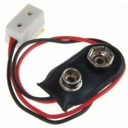 Dollhouse miniatűr 9 V-os akkumulátor csatlakozó vezetékkel és LA00 P9R4 egyedüli csatlakozóval