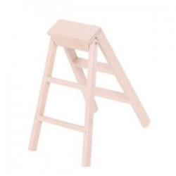 1X (1:12 Dollhouse miniatűr bútor fa létra Z9Y4)