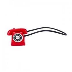 1:12 Dollhouse Miniatűr Régimódi Vintage telefontelefon, piros F9K5