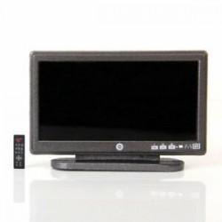 Dollhouse miniatűr szélesképernyős síkképernyős LCD TV távirányítóval szürke V3C1