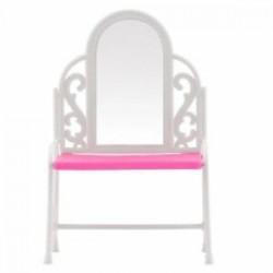 Barbies Dolls fésülködő asztal és szék kiegészítő készlet Hálószoba bútor K3K0