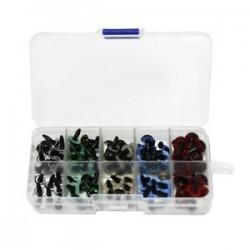 100X műanyag biztonsági szemű játékok mackóbaba állati készítő kézműveshez, DIY S L5A2