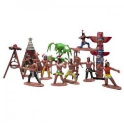 Indiai törzsek játékbaba figura Indián művészet (méret: 7 cm) H7O2