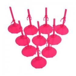 10 X állványtartó állvány Barbie Doll -Rose Red Y6Y1-hez