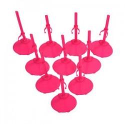 10 X talapzat kijelző és Barbie Doll -Rose Red Y6P2