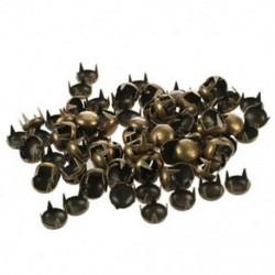 1X (100 db 7mm-es szegecses kúpos kúpos bronz dekoratív csapszegecsek szegecs DIY kézműves Q5B8)