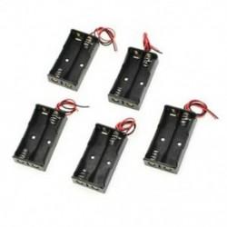 1X (5 db, 2 x 1,5 V-os AA elemtartó tok, fekete, K2D3 vezetékkel)