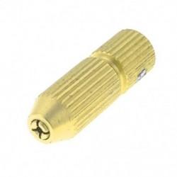 Arany tónusú sárgaréz 3,17 mm-es motortengely 0,8-1,2 mm-es mini elektromos fúrótokmány H7S7