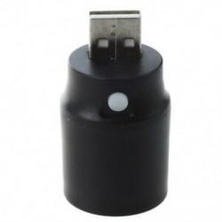 1X (fekete műanyag, fehér fényű nyomógomb, USB LED lámpás zseblámpa Z9Z8)