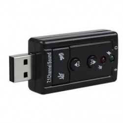 Fekete hangkártya 7.1 Külső USB 2.0 audió adapter illesztőprogramok CD G5V7