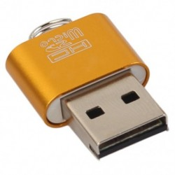 Alumínium USB 2.0 hordozható memóriakártya-olvasó adapter Micro-SD kártya / TF I2D9 számára