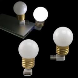 2X (USB LED izzó Mini éjszakai fény Led Night laptop asztali lámpa Clamp Flexib U8N3