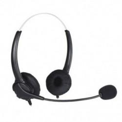 1X (új, könnyű, szalaggal fejbe szerelt USB binaurális számítógép-fülhallgató W6T9)