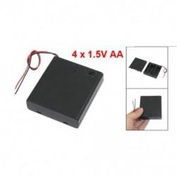 1X (BE / KI kapcsoló 5.5 &quot vezet az akkumulátor tartó dobozához 4 x 1,5 V-os AA Batteri Q7N1 elemhez)