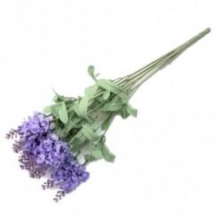Egy csokor 10 fejű mesterséges levendula selyemvirágok Csokor Otthon Kertek Deco U7L3