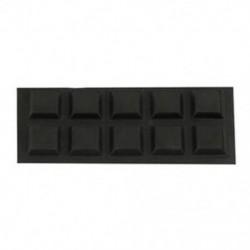 2X (Bútor négyzet alakú 12mmx12mmx3mm ragasztós gumi talpbetét, fekete 10 az 1-ben L6B7)