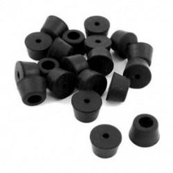 20db 13x10x10mm-es fekete gumi szék lábak - csempe padlóvédő U0