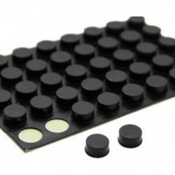 1X (bútorgomb, kerek, 10 mm x 5 mm, öntapadós gumi betétek 6 in 1 G2C5)