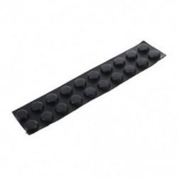 Bútor kerek 7mmx2,5 mm-es ragasztógumi talpbetéttel, fekete 20 in 1 C6N4 K3U5