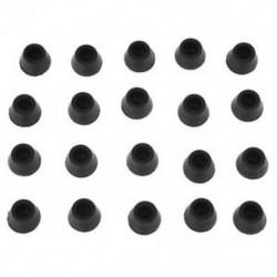 20 db fekete szék-kanapéasztal gumi bútorok lábszárvédő 16mm belső Dia C6K5