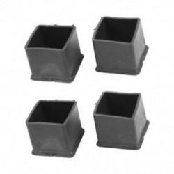 1X (20 mm x 20 mm, fekete, négyzet alakú, gumi talpbetét székhez vagy asztalhoz, 4 piec G0P6)