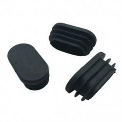 Ovális asztalszék lábcső csőcsatlakozó végsapka 40mm x 20mm 20db fekete J4N6