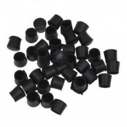 40 db fekete gumi szék asztali láb csőcső csővégvédő kupak 14mm A1M5
