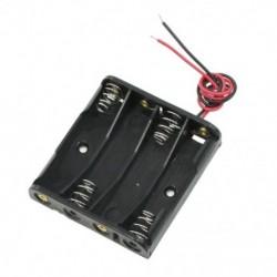 1X (fekete 4 x 1,5 V-os AAA elemtartó-tároló tok, dobozban, U3W6 vezetékkel)