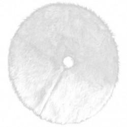 1X (karácsonyfa szoknya, 1db kreatív fehér szőnyeg karácsonyfa szoknya baszk K4U2