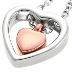10X (kettős szívű rózsa arany hamvasztás Urn nyaklánc medál tölcsér kitöltő készlet K R4Y0