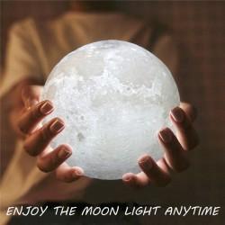 15CM 3D USB LED Hold Éjjeli lámpa Meleg fehér fény Változtatható asztali