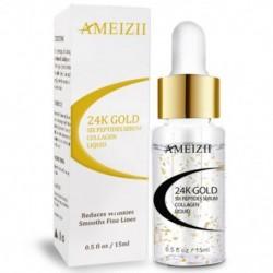 1X (AMEIZII 24K arany hat peptid szérum ránctalanító kollagénfehérítő arc W4W5