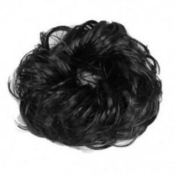 Női hajhullás Scrunchie zsemlehosszabbítások Göndör lófarok hajcsavar X0B7