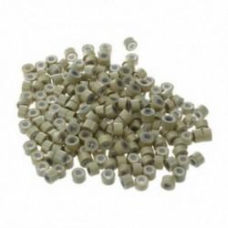 200 PCS 5 mm-es, szőke színű, szilikonbéléssel ellátott mikrogyűrűk linkek Gyöngyök Linkek C9D5-hez
