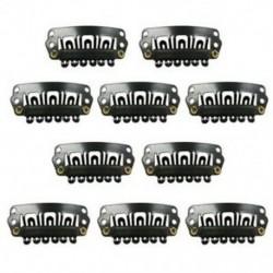 Fekete Snap klipek 10 darabos U-alakú fém klipek a hajhosszabbításhoz DIY X6Q5