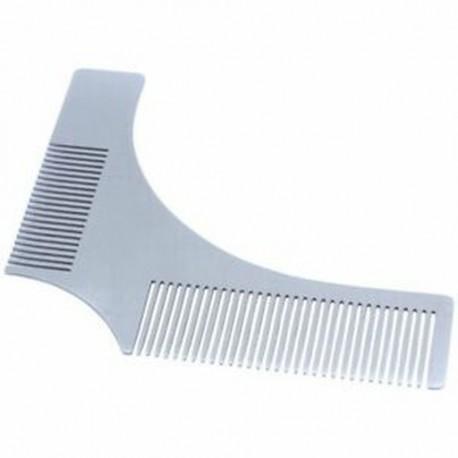 1X (rozsdamentes acél szakállformázó sablon fésű arcszőrzet S7S1)