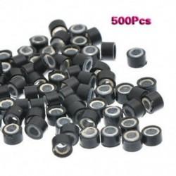 500 db 5 mm-es szilikonbéléssel ellátott mikrogyűrű Ls Gyöngyök a hajhosszabbításhoz Y4V9 N2S2