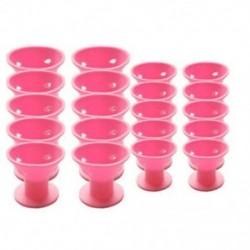 20 db rózsaszínű mágikus hajtekercs nincs klip, nincs forró szilikon hajcsavaró, professi L6E4