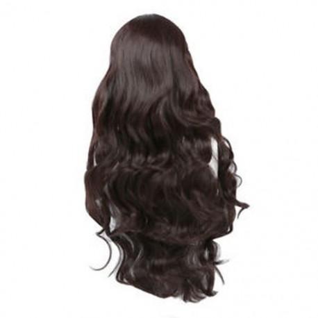 1X (gyönyörű barna göndör hosszú haj paróka emberi egészségre Z9R8)