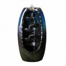 1X (kerámia visszaáramlásos vízesés füstölt füstölő égő tömlőtartó otthon dekorációvalO4P9)